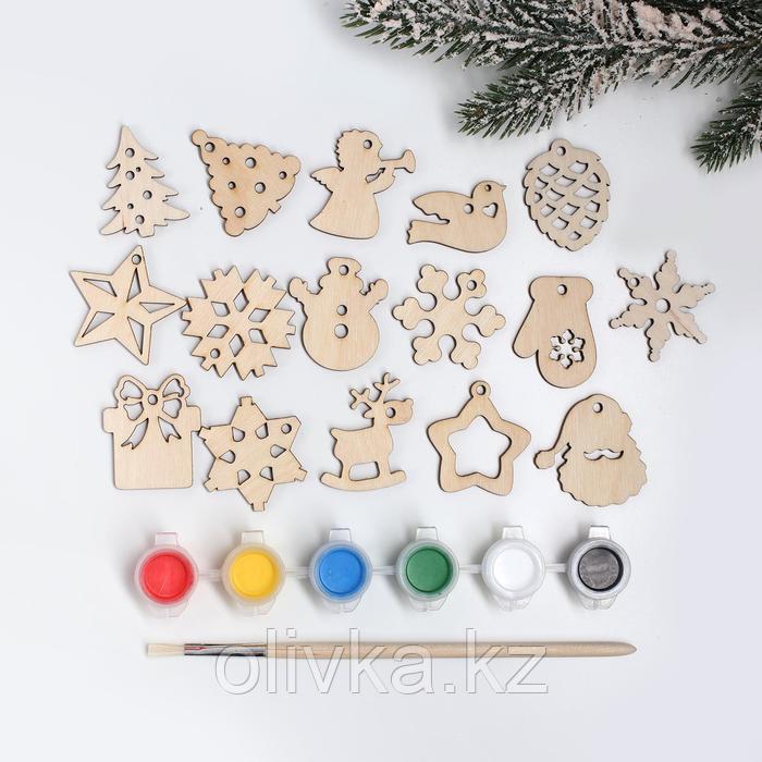 Подвески новогодние №3, 4×4 см - фото 1