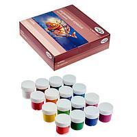 Краска акриловая, набор 16 цветов х 20 мл, «Гамма» Shine «Хобби» МОРОЗОСТОЙКАЯ (глянцевая)