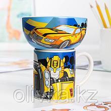 Набор Transformers «Бамблби», 2 предмета: кружка 200 мл, миска 300 мл