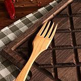 Вилка деревянная, 25 см, массив черешни, фото 2