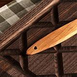Вилка деревянная, 25 см, массив черешни, фото 3