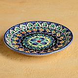 Набор чайный Риштан, 4 предмета в подар упак: чайник 0,7л, 2 пиалы 9,5см, тарелка 17см, фото 2