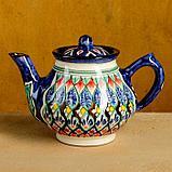 Набор чайный Риштан, 4 предмета в подар упак: чайник 0,7л, 2 пиалы 9,5см, тарелка 17см, фото 8