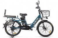 Велогибрид Green City E-Alfa Lux (Сине-серый матовый)