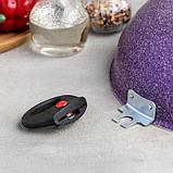 Казан 4 л, d=28 см, с 2-мя ручками, стеклянная крышка, цвет фиолетовый, фото 4