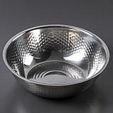Набор посуды, 3 предмета: дуршлаг 21×8 см, салатник 26×8,5 см, салатник 28×8 см, фото 8