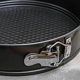 Форма для выпечки разъёмная Доляна «Элин. Круг», d=26 см, антипригарное покрытие, фото 4
