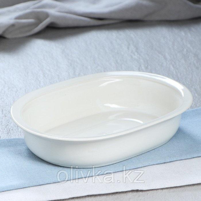 """Форма для запекания керамическая """"Овал"""", белый, 970 мл"""