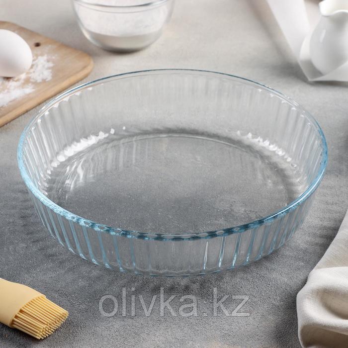 Блюдо для запекания Доляна, 2 л, 26,5×23,5×5,8 см, круглое