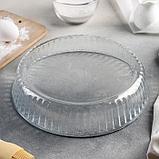 Блюдо для запекания Доляна, 2 л, 26,5×23,5×5,8 см, круглое, фото 3