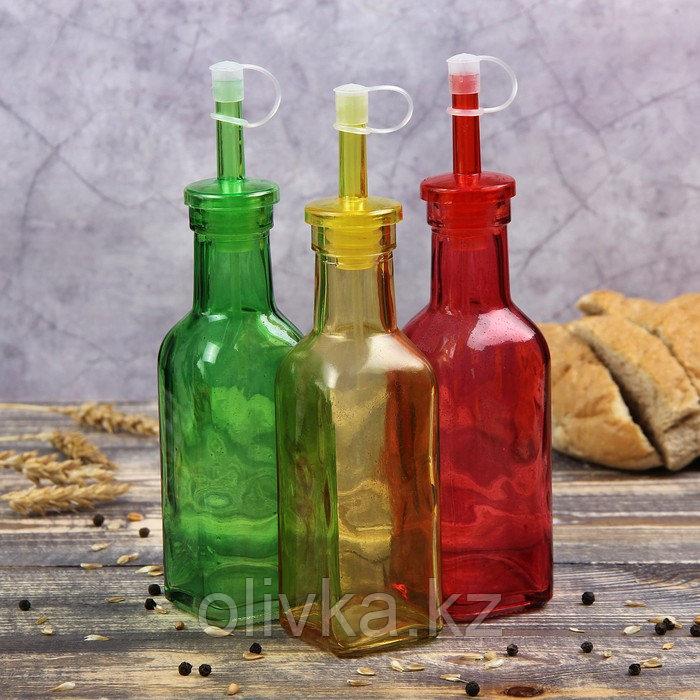 Бутыль для соусов и масла Доляна «Галерея», 200 мл, 19 см, цвет МИКС