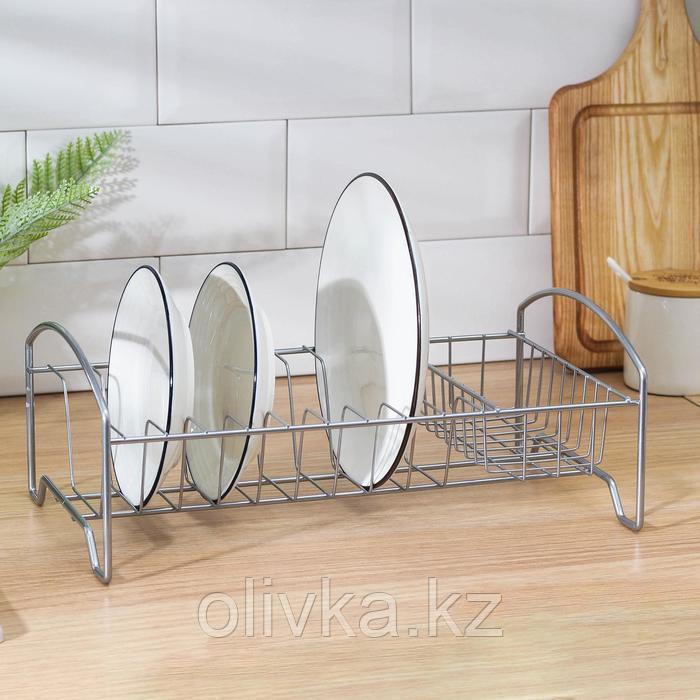 Сушилка для посуды «Мини», 35×21×12 см, цвет хром