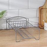 Сушилка для посуды «Мини», 35×21×12 см, цвет хром, фото 4