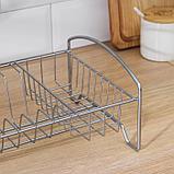 Сушилка для посуды «Мини», 35×21×12 см, цвет хром, фото 5