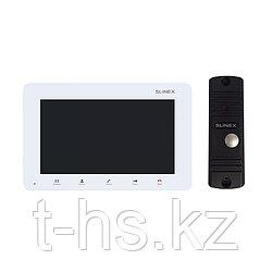 """Slinex KIT SM-07M цвет белый + ML-16HR цвет черный. Комплект домофона 7"""" + панель вызова."""