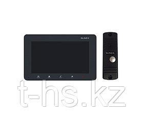 """Slinex KIT SM-07M цвет графит + ML-16HR цвет черный. Комплект домофона 7"""" + панель вызова."""
