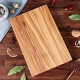 Доска для нарезки и подачи стейка и овощей, 30 х 20 см, массив ясеня, фото 2