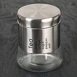 Набор банок для сыпучих продуктов «Стиль», 8 шт, 40×13×23 см, на металлической подставке, фото 3
