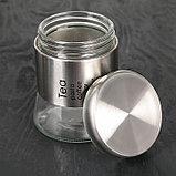 Набор банок для сыпучих продуктов «Стиль», 8 шт, 40×13×23 см, на металлической подставке, фото 4