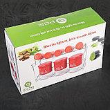 Набор банок для сыпучих продуктов «Стиль», 8 шт, 40×13×23 см, на металлической подставке, фото 6