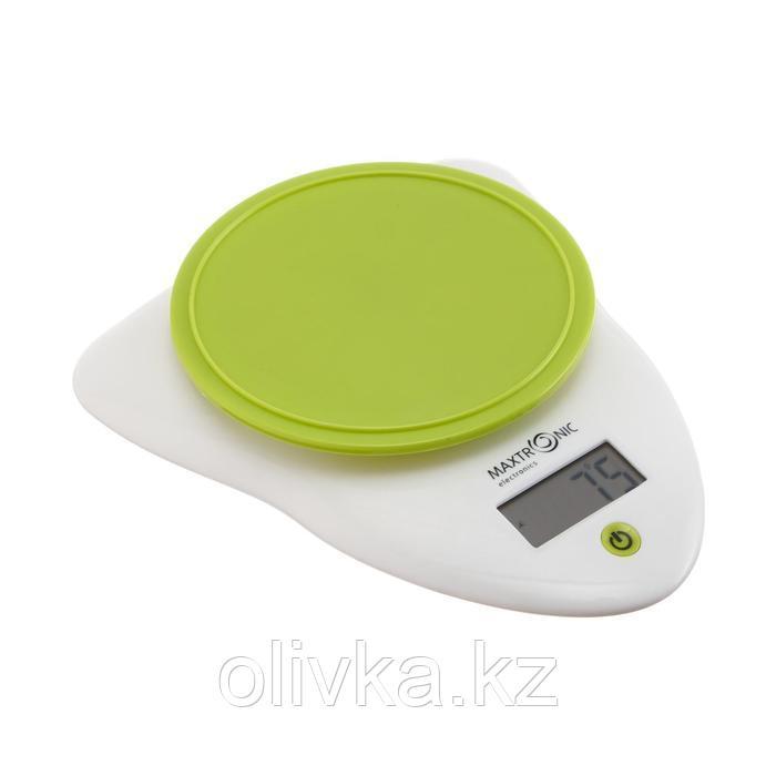 Весы кухонные MAXTRONIC MAX-895G, электронные, до 5 кг, бело-зеленые