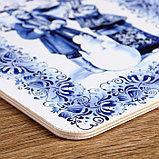 """Доска разделочная сувенирная """"Гжель"""", 19,5×27,5 см, фото 3"""