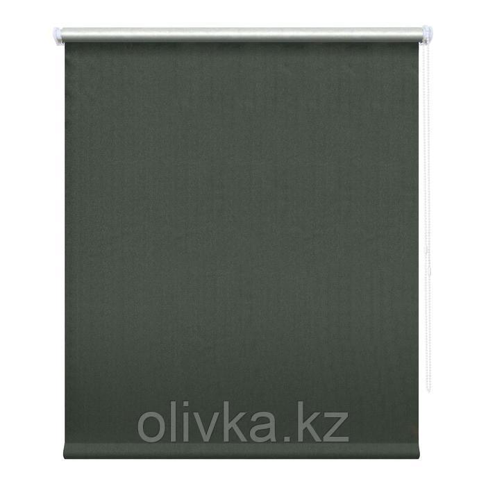 Рулонная штора блэкаут «Сильвер», 180 х 175 см, цвет графит