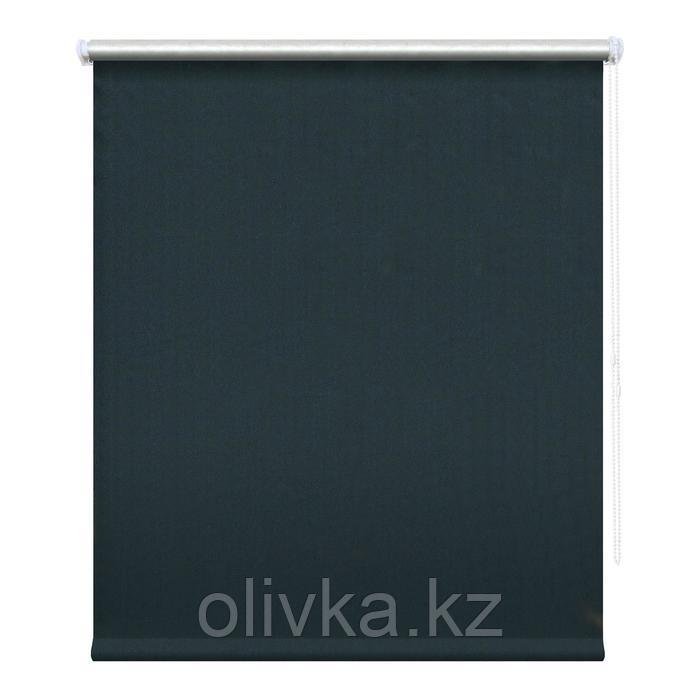 Рулонная штора блэкаут «Сильвер», 180 х 175 см, цвет тёмно-синий