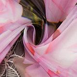 Тюль Реприза 147х267 +/- 3см, 2шт, серый, шифон, п/э, фото 3