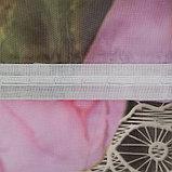 Тюль Реприза 147х267 +/- 3см, 2шт, серый, шифон, п/э, фото 4