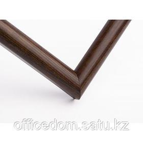 Рамка деревянная А4, темное дерево, ширина 1,5 см