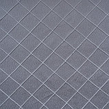 Штора портьерная жаккард Ромбы 135х260 см, серый, пэ 100%, фото 3