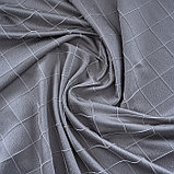 Штора портьерная жаккард Ромбы 135х260 см, серый, пэ 100%, фото 4