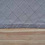 Штора портьерная жаккард Ромбы 135х260 см, серый, пэ 100%, фото 6