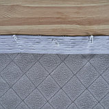 Штора портьерная жаккард Ромбы 135х260 см, серый, пэ 100%, фото 7