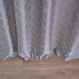 Штора портьерная жаккард Ромбы 135х260 см, серый, пэ 100%, фото 8