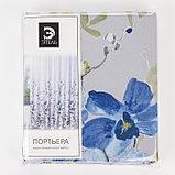 """Штора портьерная Этель """"Акварель"""" цв.синий, 250*265 см, пл. 210 г/м2, 100 п/э, фото 5"""