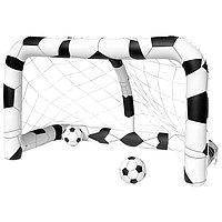 Ворота футбольные надувные (1 шт), 213 х 117 х 125 см, с 2 мячами, от 3 лет, 52058 Bestway