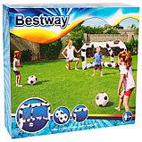 Ворота футбольные надувные (1 шт), 213 х 117 х 125 см, с 2 мячами, от 3 лет, 52058 Bestway, фото 2