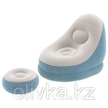 Надувное кресло + пуфик Crusier, 121 х 100 х 86 см, 54 х 54 х 26 см, цвета МИКС, 75053 Bestway