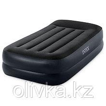 Кровать надувная Twin, с подголовником, 99 x 191 x 42 см, 64122 INTEX