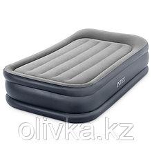 Кровать надувная Deluxe Pillow Rest Twin, 99 х 191 х 42 см, с подголовником, с встроенным насосом, 64132NP