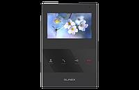 """Slinex SQ-04M цвет черный. 4"""" Цветной домофон c программной детекцией движения"""