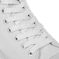 Шнурки для обуви, пара, плоские, 8 мм, 110 см, цвет белый