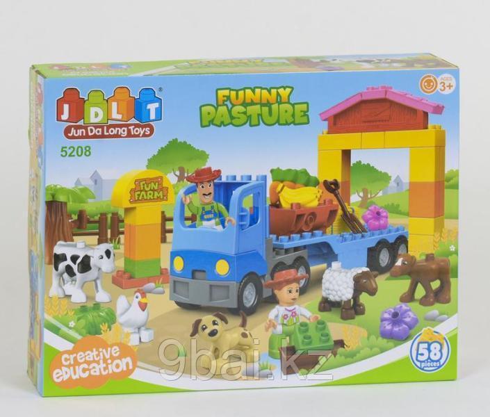 Конструктор Jun Da Long Toys HWА596736 Грузовик на ферме 58 элементов
