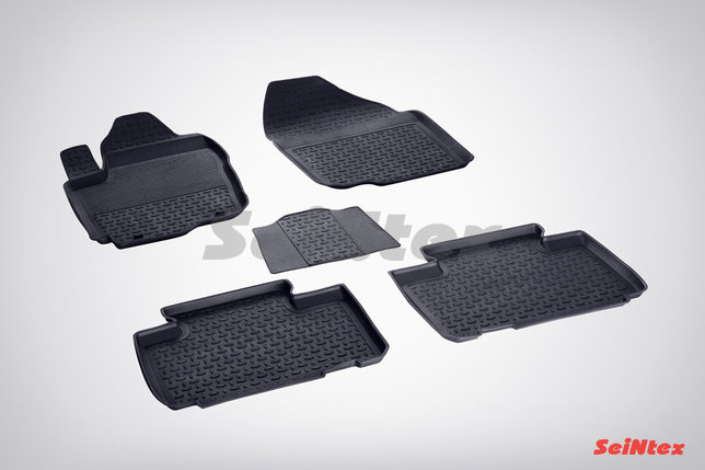 Резиновые коврики с высоким бортом для Toyota RAV4 IV (2012-2019), фото 2