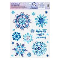 Интерьерная наклейка со светящимся слоем 'Новый Год будет снежным', 21 х 29,7 х 0,1 см