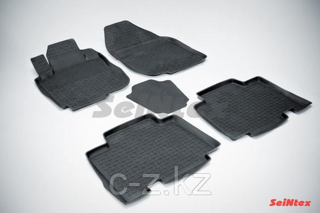 Резиновые коврики с высоким бортом для Toyota RAV4 III Long (2008-2012), фото 2