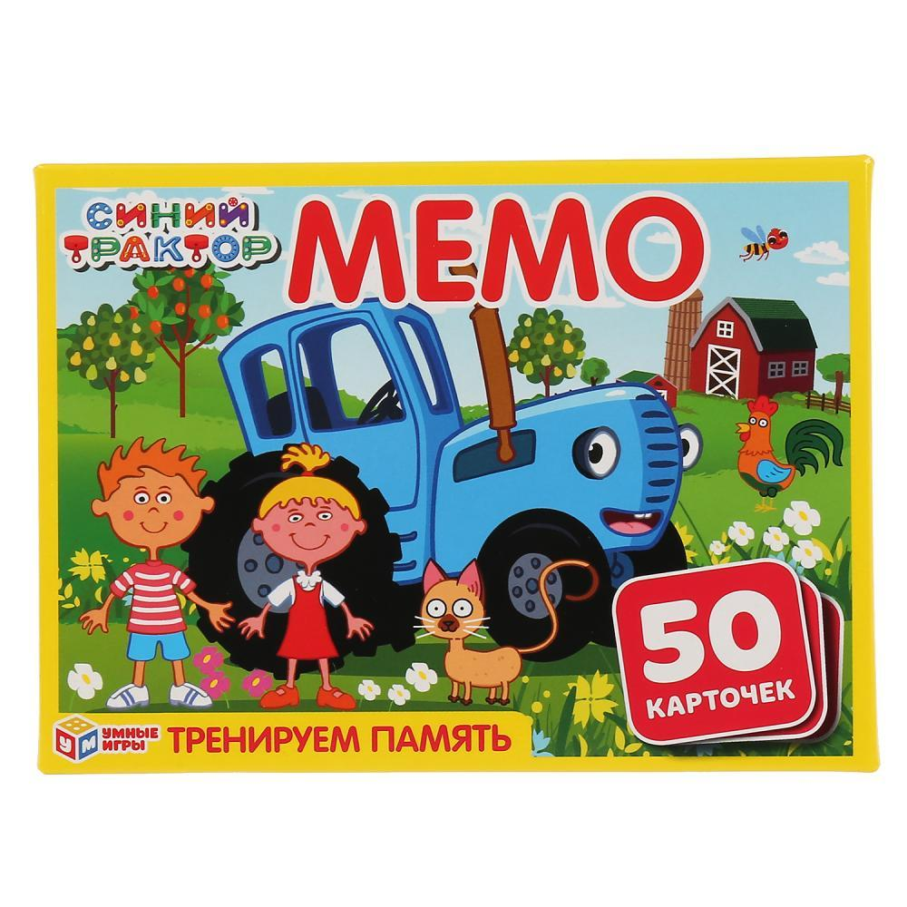 Карточная Игра Мемо Синий Трактор