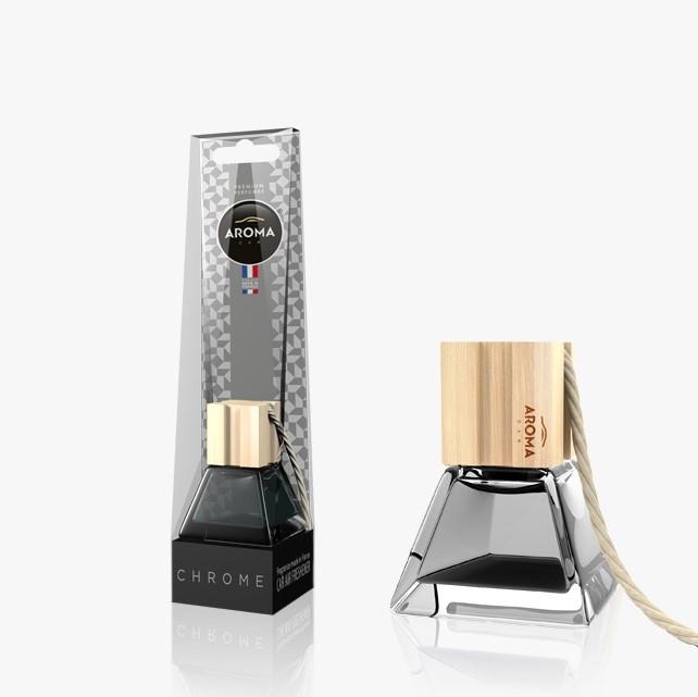 Ароматизатор подвесной жидкий Prestige Wood Chrome, Aroma, 7ml